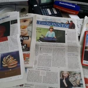 Zeitungen, Zeitungen, Zeitungen. (c) Falk Steiner